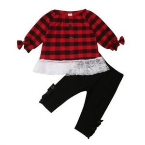 NWOT Good Lad buffalo plaid toddler button down